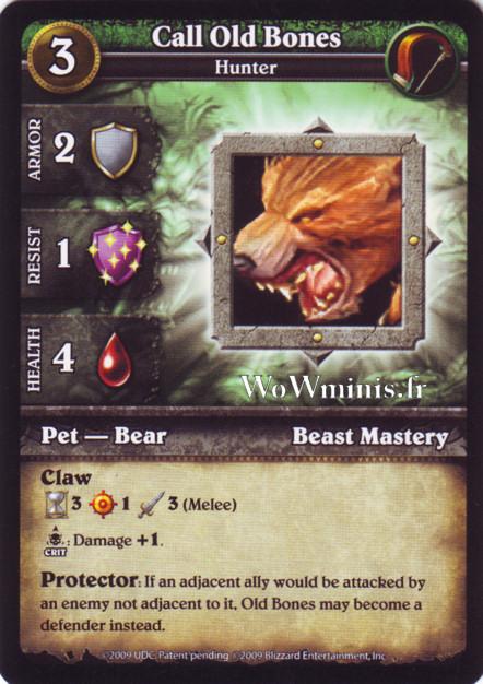 WoW Minis - Cartes à l'unité [Spoils of War] WoW Miniatures Game 10 - Call Old Bones [Cartes WOW minis: Spoils of War]