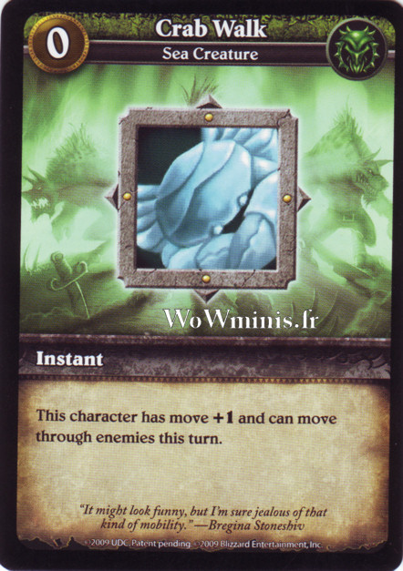 WoW Minis - Cartes à l'unité [Spoils of War] WoW Miniatures Game 11 - Crab Walk [Cartes WOW minis: Spoils of War]