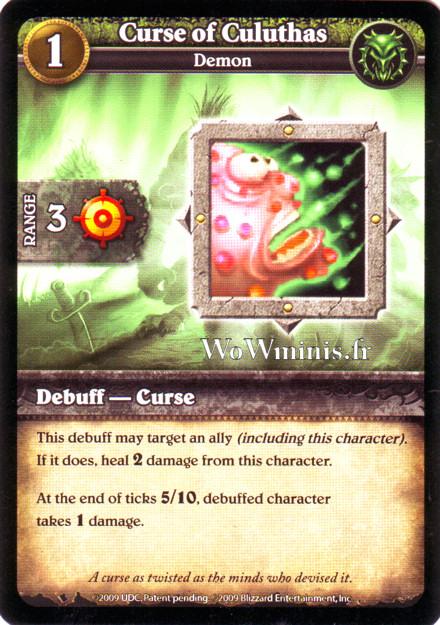WoW Minis - Cartes à l'unité [Spoils of War] 12 - Curse of Culuthas [Cartes WOW minis: Spoils of War]