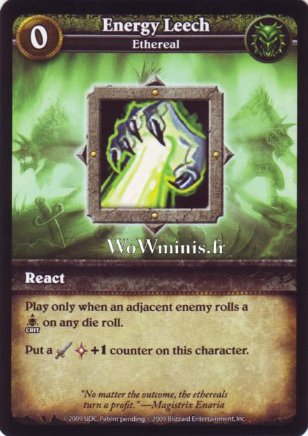 WoW Minis - Cartes à l'unité [Spoils of War] WoW Miniatures Game 14 - Energy Leech [cartes Wow Minis: Spoils Of War]