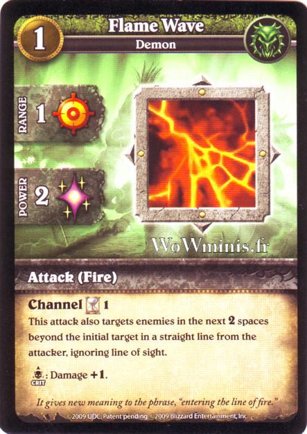 WoW Minis - Cartes à l'unité [Spoils of War] WoW Miniatures Game 15 - Flame Wave [Cartes WOW minis: Spoils of War]
