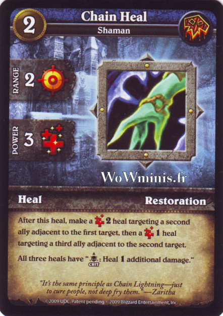 WoW Minis - Cartes à l'unité [Spoils of War] WoW Miniatures Game 28 - Chain Heal[Cartes WOW minis: Spoils of War]