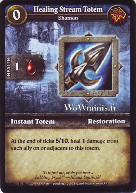 WoW Minis - Cartes à l'unité [Spoils of War] WoW Miniatures Game 29 - Healing Stream Totem[Cartes WOW minis: Spoils of War]