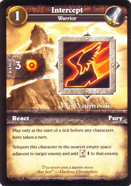 WoW Minis - Cartes à l'unité [Spoils of War] WoW Miniatures Game 37 - Intercept[Cartes WOW minis: Spoils of War]