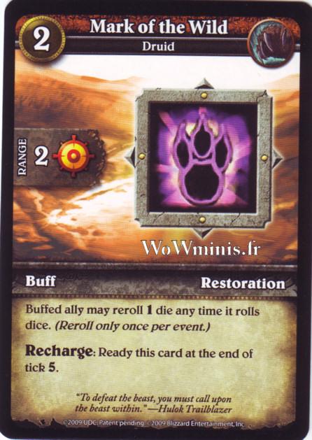WoW Minis - Cartes à l'unité [Spoils of War] WoW Miniatures Game 39 - Mark of the Wild[Cartes WOW minis: Spoils of War]