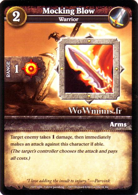 WoW Minis - Cartes à l'unité [Spoils of War] WoW Miniatures Game 40 - Mocking Blow[Cartes WOW minis: Spoils of War]