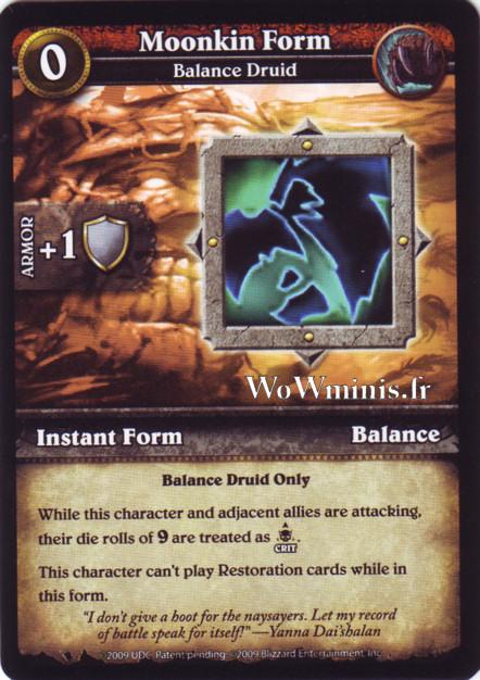 WoW Minis - Cartes à l'unité [Spoils of War] WoW Miniatures Game 42 - Moonkin Form[Cartes WOW minis: Spoils of War]