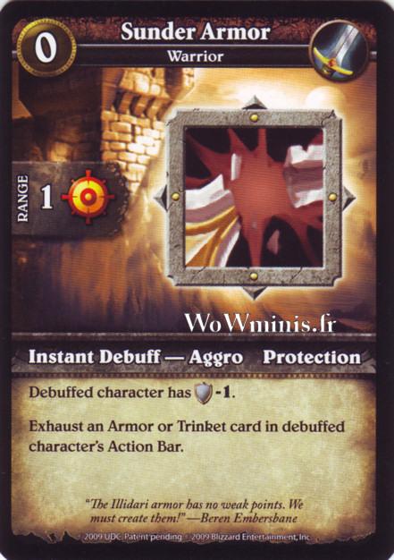 WoW Minis - Cartes à l'unité [Spoils of War] WoW Miniatures Game 43 - Sunder Armor[Cartes WOW minis: Spoils of War]