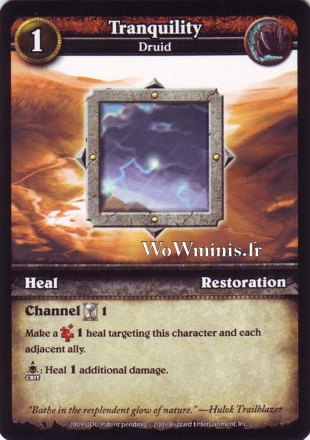 WoW Minis - Cartes à l'unité [Spoils of War] WoW Miniatures Game 44 - Tranquility[Cartes WOW minis: Spoils of War]