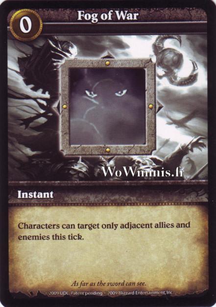 WoW Minis - Cartes à l'unité [Spoils of War] WoW Miniatures Game 50 - Fog of War[Cartes WOW minis: Spoils of War]