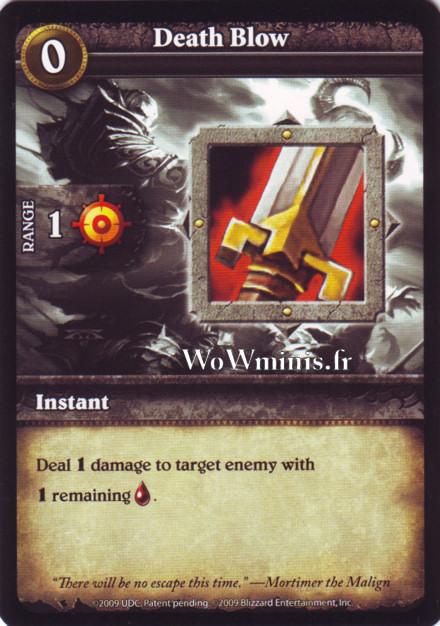 WoW Minis - Cartes à l'unité [Spoils of War] WoW Miniatures Game 51 - Death Blow[Cartes WOW minis: Spoils of War]