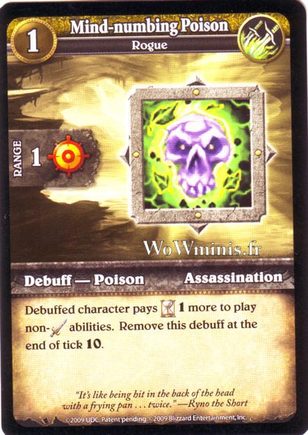 WoW Minis - Cartes à l'unité [Spoils of War] WoW Miniatures Game 54 - Mind-numbing Poison[Cartes WOW minis: Spoils of War]