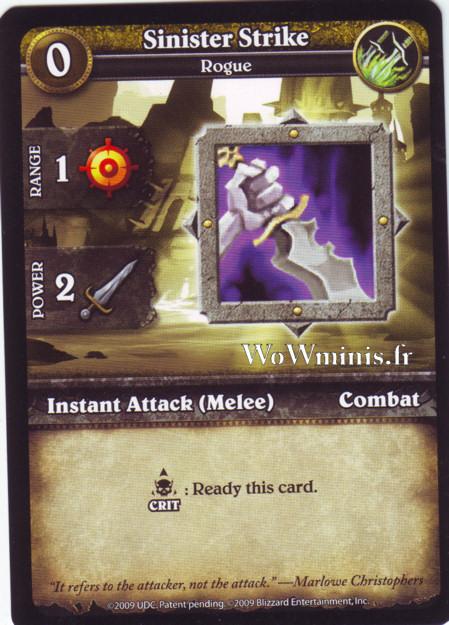 WoW Minis - Cartes à l'unité [Spoils of War] WoW Miniatures Game 55 - Sinister Stricke[Cartes WOW minis: Spoils of War]