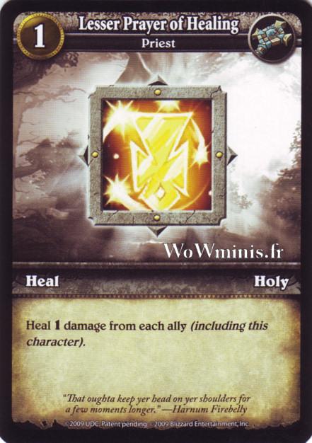 WoW Minis - Cartes à l'unité [Spoils of War] 56 - Lesser Prayer of Healing[Cartes WOW minis: Spoils of War]