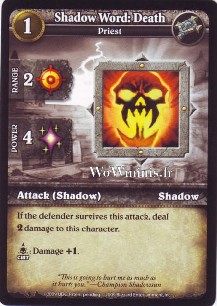 WoW Minis - Cartes à l'unité [Spoils of War] WoW Miniatures Game 59 - Shadow Word: Death[Cartes WOW minis: Spoils of War]