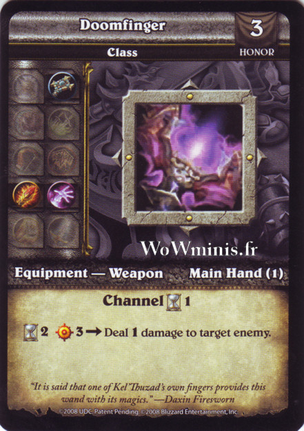 WoW Minis - Cartes à l'unité [Spoils of War] WoW Miniatures Game 62 - Doomfinger[Cartes WOW minis: Spoils of War]