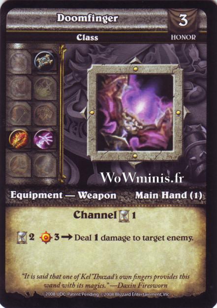 WoW Minis - Cartes à l'unité [Spoils of War] WoW Miniatures Game 62 - Doomfinger[Cartes WOW minis: Spoils of War]