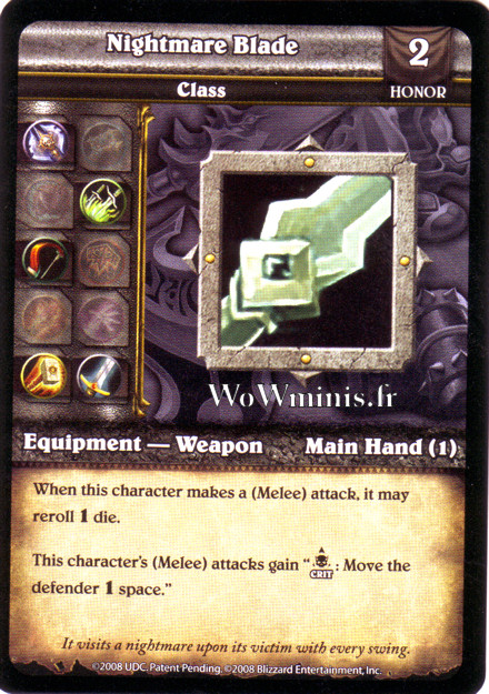 WoW Minis - Cartes à l'unité [Spoils of War] WoW Miniatures Game 64 - Nightmare Blade[Cartes WOW minis: Spoils of War]
