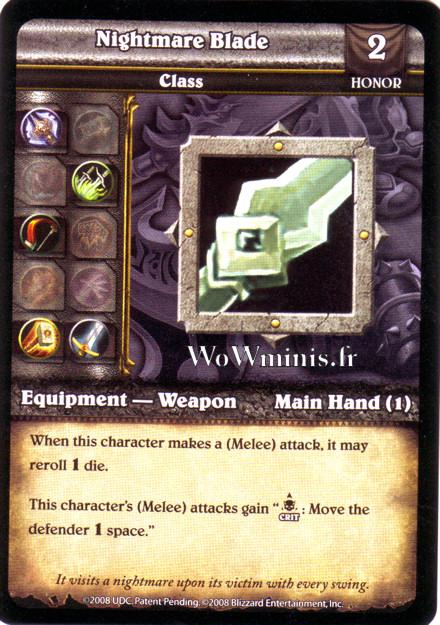 WoW Minis - Cartes à l'unité [Spoils of War] WoW Miniatures Game 64 - Nightmare Blade[Cartes WOW minis: Spoils of War]