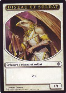 Tokens Magic Token/Jeton - Renaissance D'alara - Oiseau Et Soldat