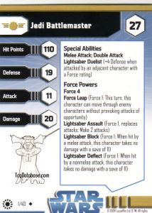 Star Wars Miniatures - Jedi Academy Star Wars Miniatures 01 - Jedi Battlemaster [Star Wars Miniatures - Jedi Academy]