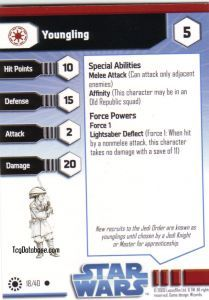 Star Wars Miniatures - Jedi Academy Star Wars Miniatures 18 - Youngling [Star Wars Miniatures - Jedi Academy]