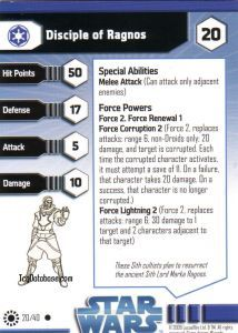 Star Wars Miniatures - Jedi Academy Star Wars Miniatures 20 - Disciple of Ragnos [Star Wars Miniatures - Jedi Academy]