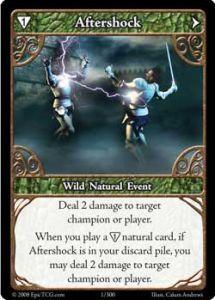 Epic Autres jeux de cartes 001 - Aftershock [Set 1 - Cartes Epic]