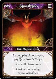 Epic Autres jeux de cartes 008 - Apocalypse [Set 1 - Cartes Epic]
