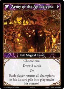 Epic Autres jeux de cartes 010 - Army of The Apocalypse [Set 1 - Cartes Epic]