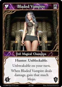 Epic Autres jeux de cartes 018 - Bladed Vampire [Set 1 - Cartes Epic]