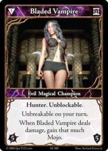 Epic Autres jeux de cartes 018 - Bladed Vampire [Set 1 - Cartes Epic]