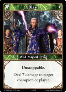 Epic Autres jeux de cartes 019 - Blast [Set 1 - Cartes Epic]