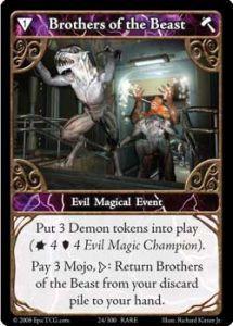 Epic Autres jeux de cartes 024 - Brother's of The Beast [Set 1 - Cartes Epic]