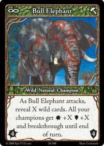 Epic Autres jeux de cartes 028 - Bull Elephant [Set 1 - Cartes Epic]