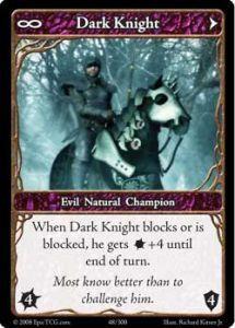 Epic Autres jeux de cartes 048 - Dark Knight [Set 1 - Cartes Epic]