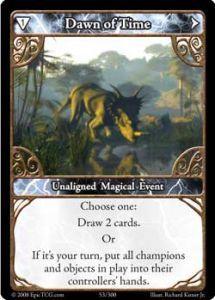 Epic Autres jeux de cartes 053 - Dawn of Time [Set 1 - Cartes Epic]