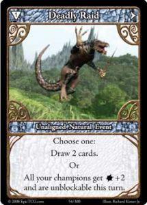 Epic Autres jeux de cartes 054 - Deadly Raid [Set 1 - Cartes Epic]