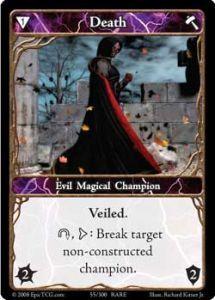 Epic Autres jeux de cartes 055 - Death [Set 1 - Cartes Epic]