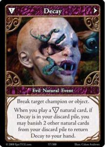Epic Autres jeux de cartes 057 - Decay [Set 1 - Cartes Epic]