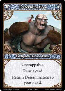 Epic Autres jeux de cartes 059 - Determination [Set 1 - Cartes Epic]