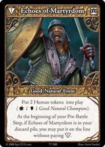 Epic Autres jeux de cartes 077 - Echoes of Martyrdom [Set 1 - Cartes Epic]