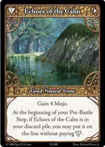 Epic Autres jeux de cartes 078 - Echoes of The Calm [Set 1 - Cartes Epic]