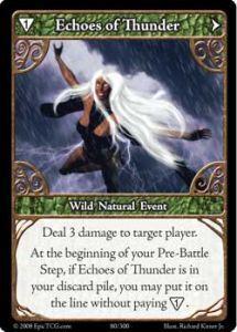 Epic Autres jeux de cartes 080 - Echoes of Thunder [Set 1 - Cartes Epic]