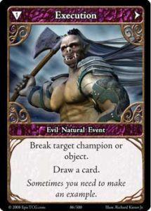 Epic Autres jeux de cartes 086 - Execution [Set 1 - Cartes Epic]