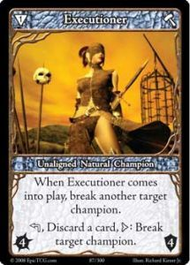 Epic Autres jeux de cartes 087 - Executioner [Set 1 - Cartes Epic]