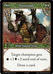 Epic Autres jeux de cartes 091 - Ferocious [Set 1 - Cartes Epic]