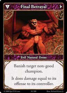 Epic Autres jeux de cartes 093 - Final Betrayal [set 1 - Cartes Epic]