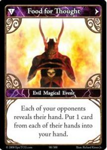 Epic Autres jeux de cartes 098 - Food For Thought [Set 1 - Cartes Epic]