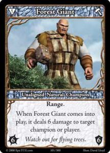Epic Autres jeux de cartes 101 - Forest Giant [Set 1 - Cartes Epic]